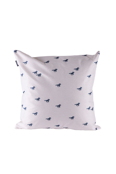 Horse White II - Wistow Large Galloping Horse Cushion