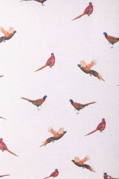Pheasant White - Wistow Large Country Print Cushion