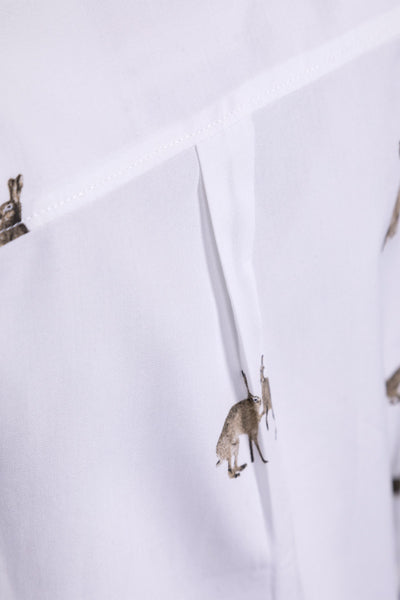 Hare White - Girls Wistow Printed Shirt
