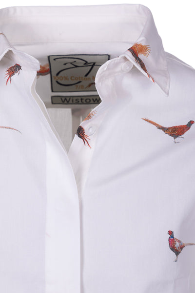 b0a0019bf6b Pheasant White - Girls Wistow Printed Shirt