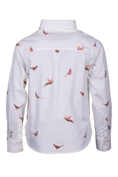 Pheasant White - Girls Wistow Printed Shirt
