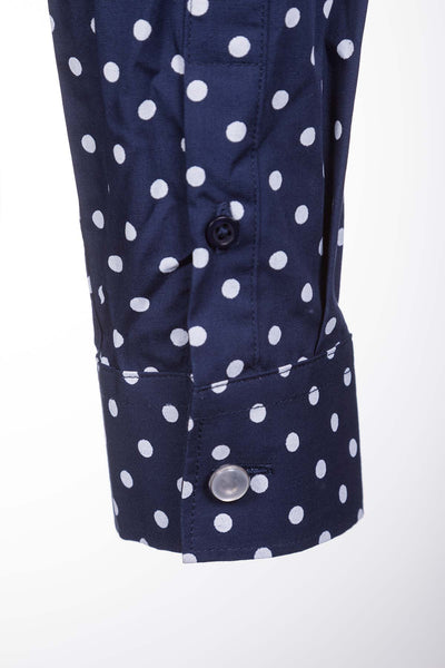 Spotty Navy - Wistow Printed Shirt