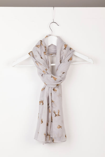 Hare Thistle - Ladies Wistow Printed Floaty Scarf