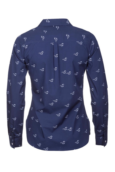 Horse Navy - Wistow Printed Shirt