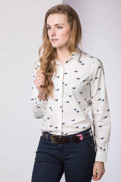 Horse White II - Ladies Wistow Printed Shirt