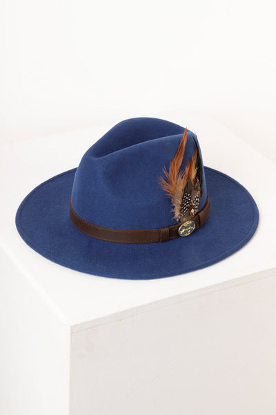 Blue - Ladies Danby Wool Felt Hat