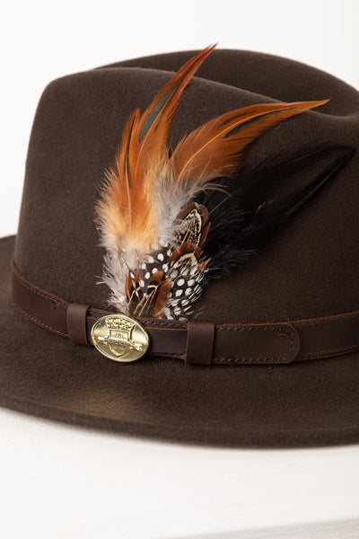 Brown - Ladies Danby Wool Felt Hat