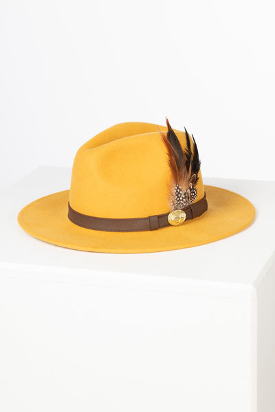 Mustard - Ladies Danby Wool Felt Hat