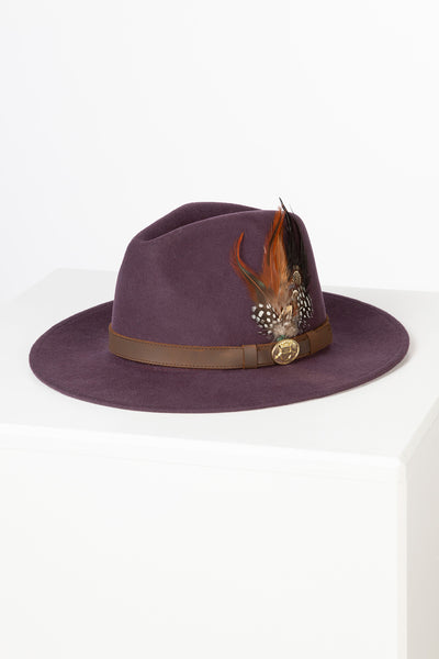 Purple - Ladies Danby Wool Felt Hat