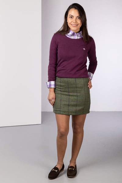 Green - Wool Tweed Skirt