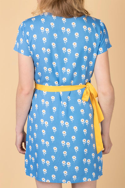 Daisy Blue - Ladies Rose Wrap Dress