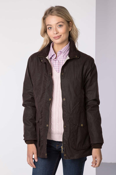Brown - Wrelton Country Wax Jacket