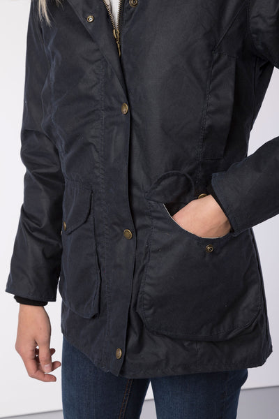 Navy - Wrelton Country Wax Jacket