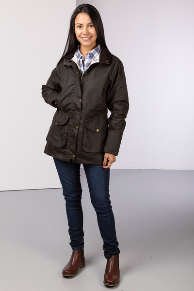 Olive - Wrelton Country Wax Jacket