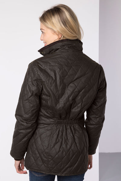 Olive - Wrelton Diamond Quilted Wax Jacket