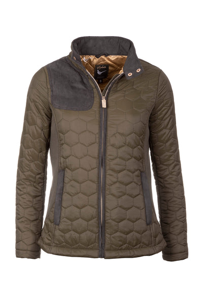 Khaki - Ladies Quilted Jacket - Wrelton II
