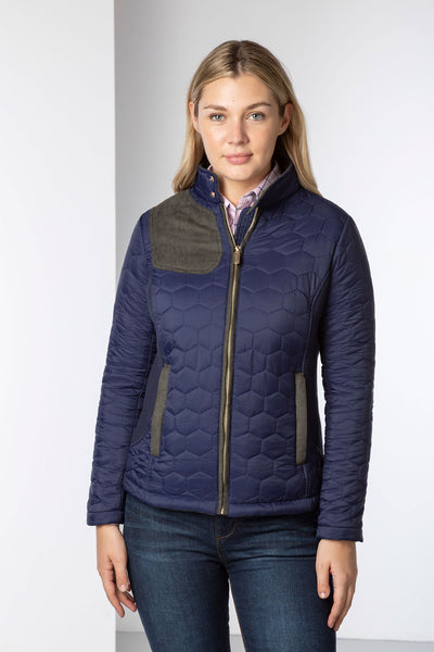 Ladies Quilted Jacket Rydale Women/'s Country Coat Elasticated Sides Full Zip