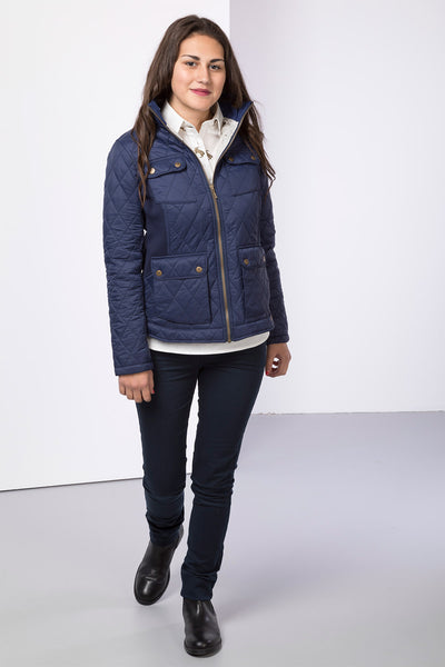 Navy - Ladies Wrelton Quilted Jacket