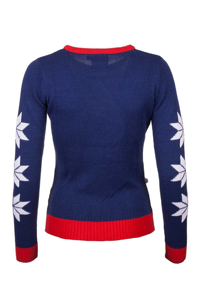 Sheep Stack Navy - Ladies Christmas 2016 Sweater