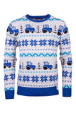 Tractor Blue - Mens Christmas 2016 Sweater