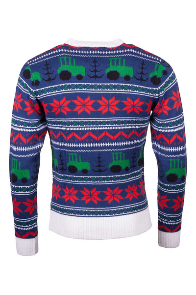 Tractor Navy - Mens Christmas 2016 Sweater