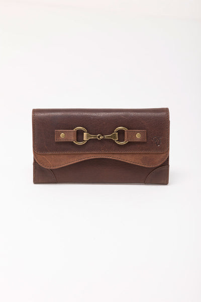 Brown - Zara Snaffle Leather Purse