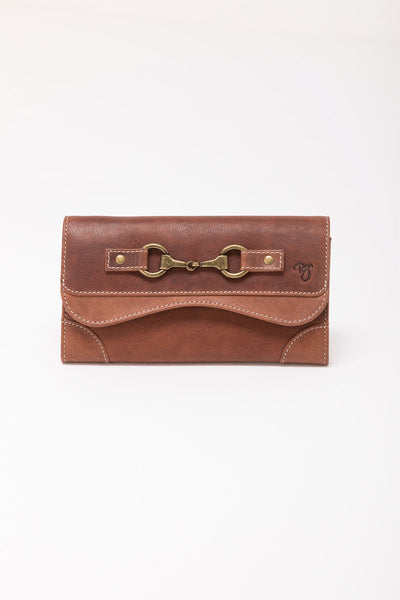 Tan - Zara Snaffle Leather Purse