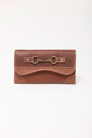 Zara Snaffle Tan Leather Long Purse