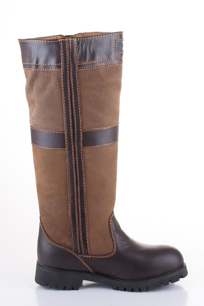 High Leather Zip Up Boots