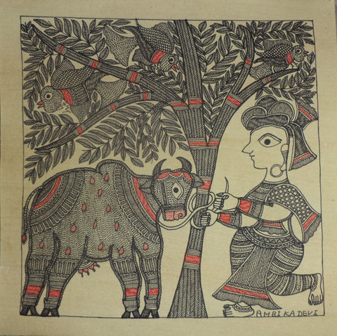 Madhubani Art 01 l Artiliving Online Art & Home Decor