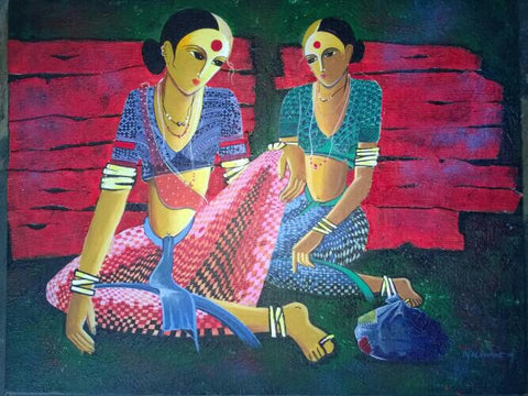 Indian culture painting l Artiliving Online Art & Home Decor