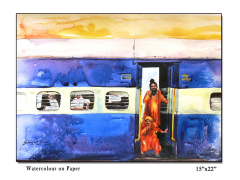 Train-03 painting l Artiliving Online Art & Home Decor