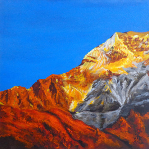Golden Mountain-III l Artiliving Online Art & Home Decor