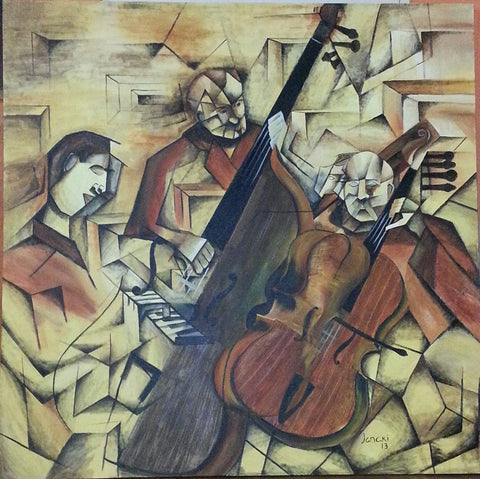 Ensemble of musicians painting l Artiliving Online Art & Home Decor