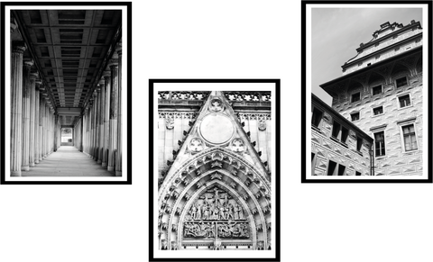 Black & White photography- set of 3 l Artiliving Online Art & Home Decor