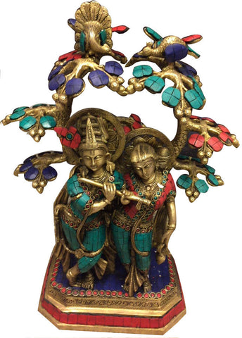 Radha Krishna metal craft sculpture l Artiliving Online Art & Home Decor