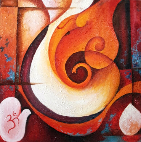 Abstract Ganpati l Artiliving Online Art & Home Decor