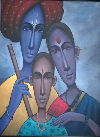 Indian family painting l Artiliving Online Art & Home Decor