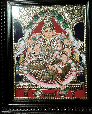 Lakshmi Tanjore Painting l Artiliving Online Art & Home Decor