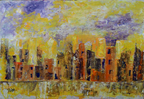 Buildings reflection 3 l Artiliving Online Art & Home Decor