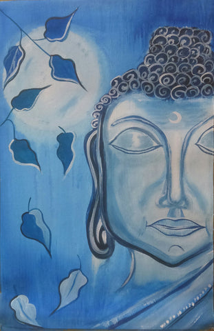Buddha blue painting l Artiliving Online Art & Home Decor