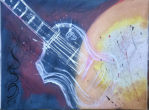 Abstract Guitar painting l Artiliving Online Art & Home Decor
