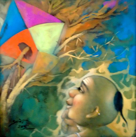 Boy with kite painting l Artiliving Online Art & Home Decor