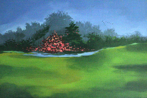 Embers on a green carpet painting l Artiliving Online Art & Home Decor