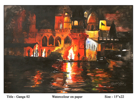 Ganga-02 painting l Artiliving Online Art & Home Decor