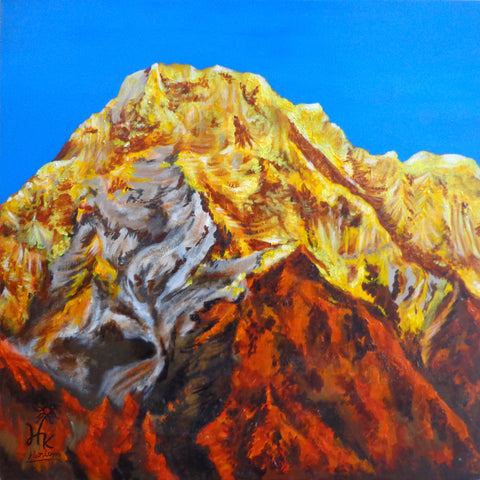 Golden Mountain-1 l Artiliving Online Art & Home Decor