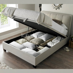 Accent Ottoman Bed - Double - Slate or Oatmeal