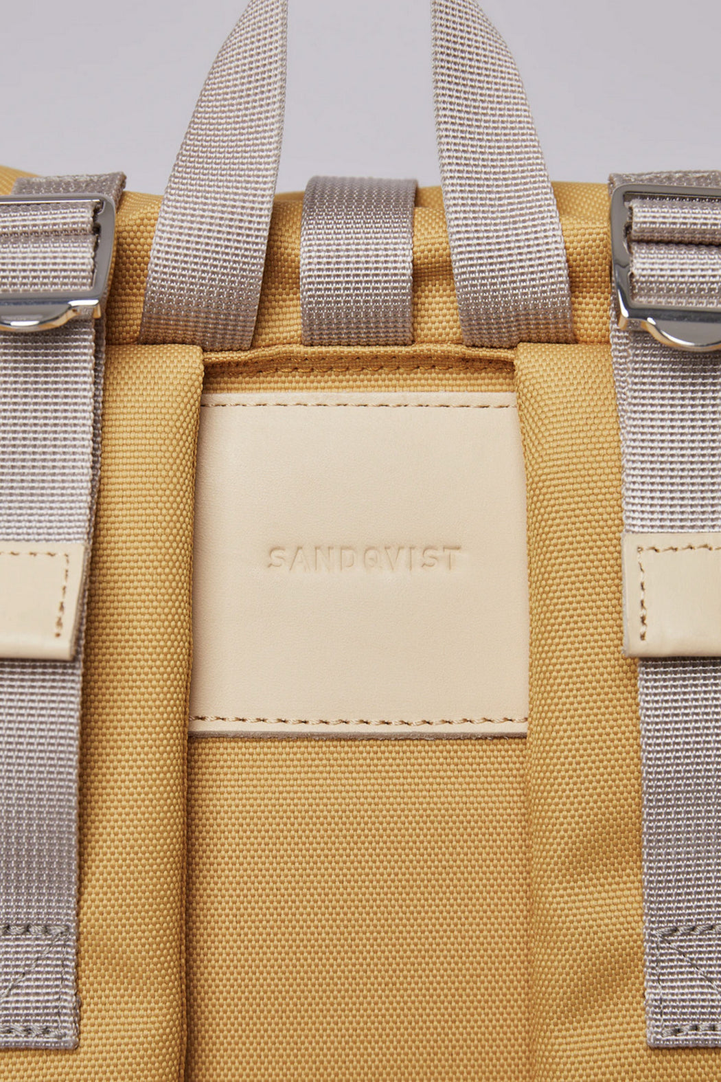 BERNT Backpack yellow with natural leather