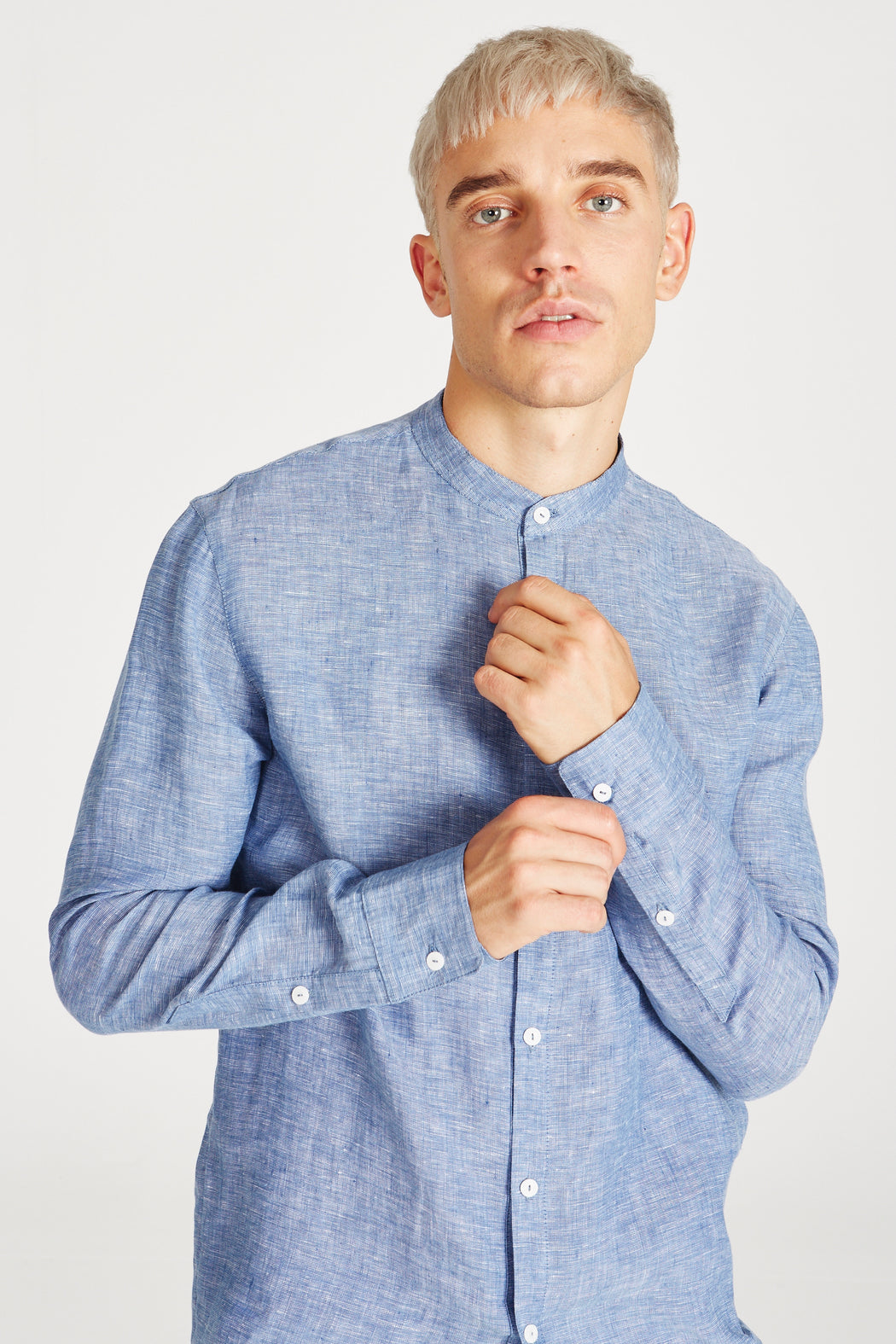 WES Shirt blue structure