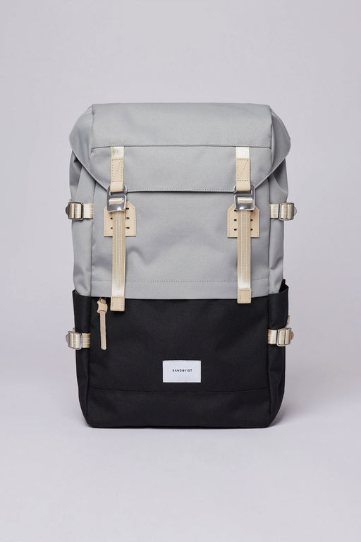 HARALD Backpack multi grey/black natural leather